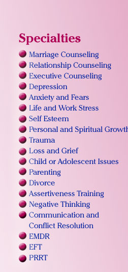 Specialties and Other Counseling Expertise