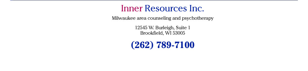 Inner Resources Inc. 12545 W. Burleigh, Suite 1, Brookfield, WI 53005